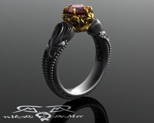 Blue Topaz Wedding Ring 90 Trend Two tone rhodolite garnet
