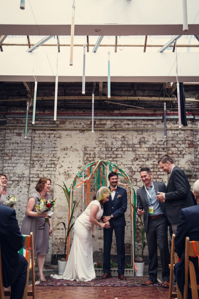 Indoor Festival Wedding at an Industrial Warehouse (15)