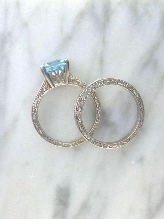 White Topaz Wedding Rings 81 Spectacular PrincessJewelersLA