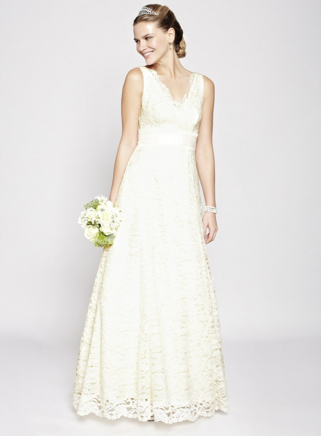 Wedding dresses with lace top