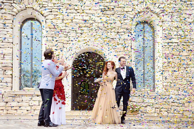 Glamorous Romanian Wedding With The Bride In A Erfly Gown