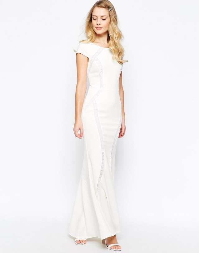 Wedding Dress Asos 78 Beautiful jarlo lace panel