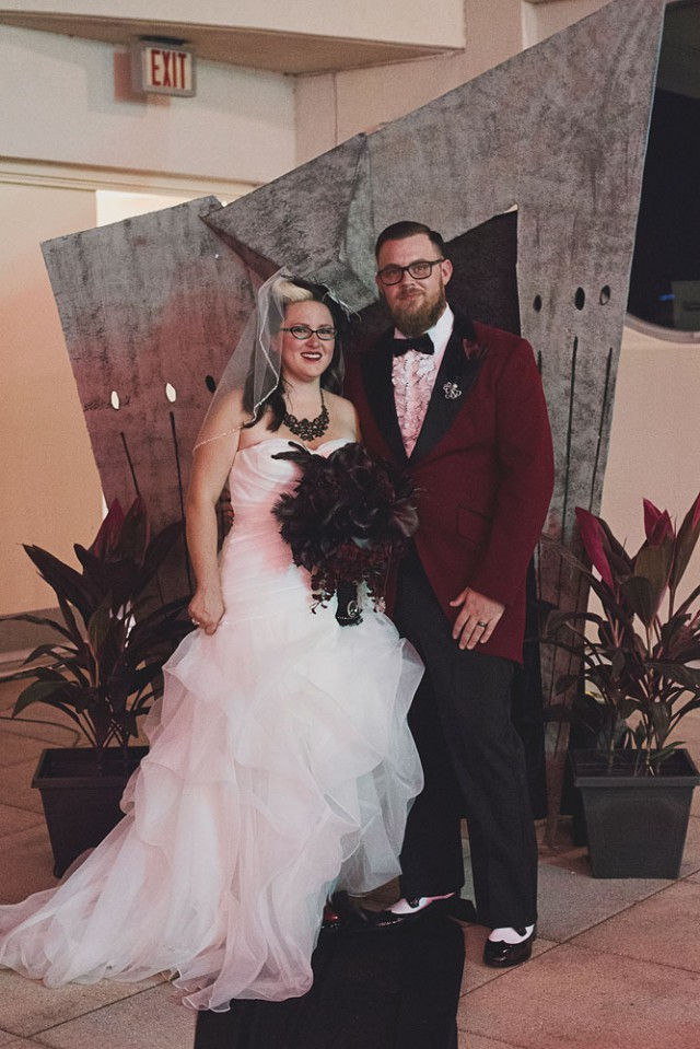 Horror themed museum wedding (21)