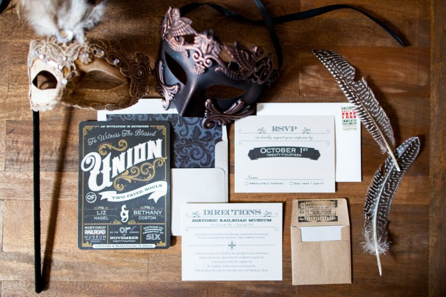 industrial vintage glam wedding (2)
