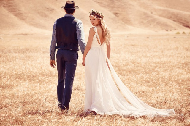 Free people takes a walk down the aisle with their first for Ever after wedding dress