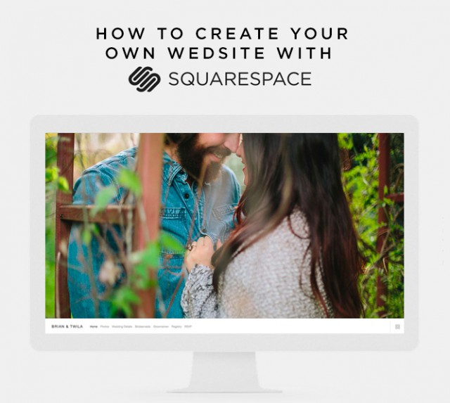 HOW TO CREATE YOUR OWN WEDSITE WITH SQUARESPACE ROCKNROLLBRIDE