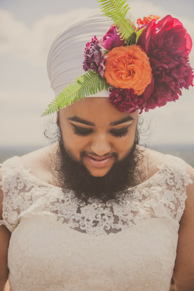 Harnaam Kaur bridal shoot lady beard (8)