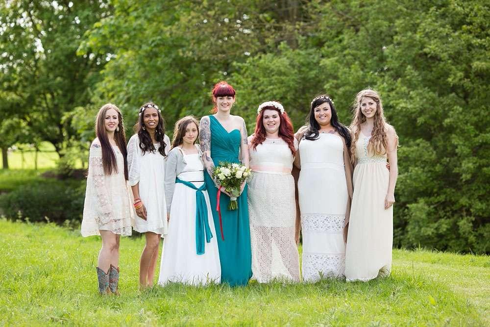 colourful outdoor pagan wedding 183 rock n roll bride