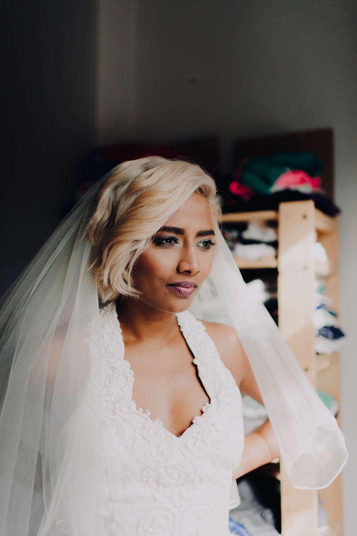 A Bride in Blue (Stock...