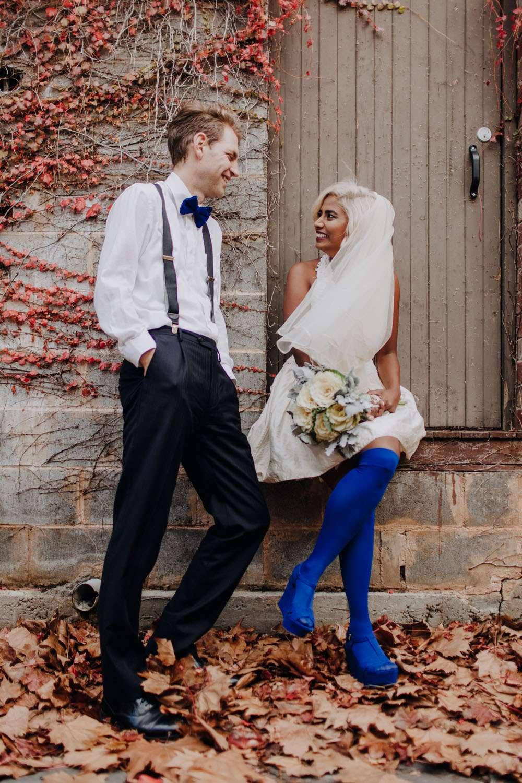 a bride in blue stockings 183 rock n roll bride