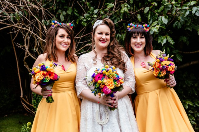 colourful rainbow rose and pixel wedding (37)