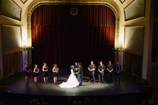 Superhero retro movie theatre wedding (6)