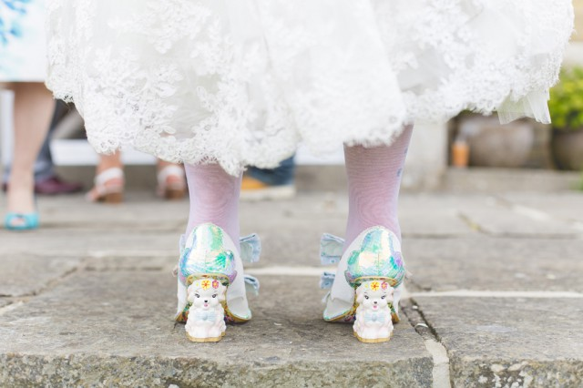 colourful kent wedding shoes