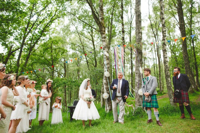 colourful woodland wedding scotland (50)