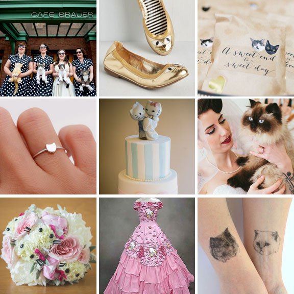 14 things all cat lovers need at their wedding rock n roll bride how to have a cat themed wedding junglespirit Gallery