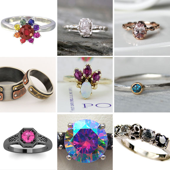 20 Unique Engagement Rings Under £500
