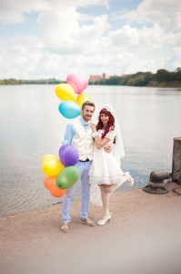 Anime & 1950s inspired Wedding in Russia