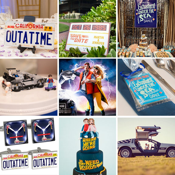 15 ideas for a back to the future themed wedding