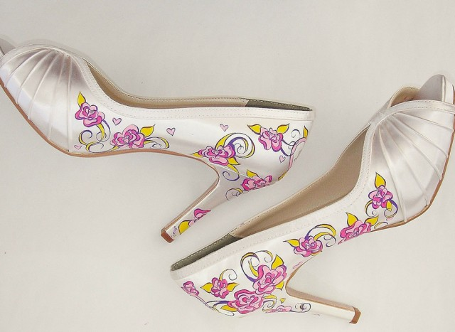 handpainted wedding shoes by gemma kenward (3)