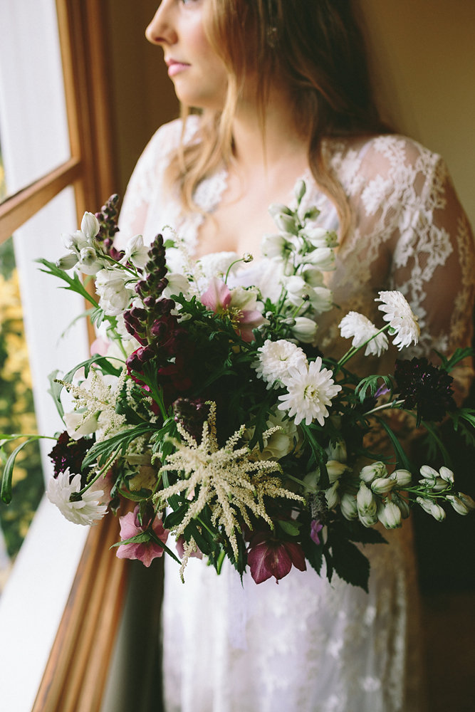 Dark Florals With A Touch Of Skulls Winter Glam Wedding In Melbourne
