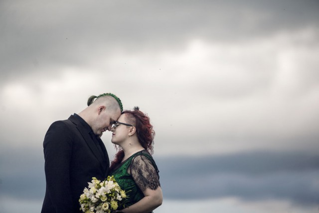 Green & Black Latvian Forest Wedding with a Hint of Tolkien (24)