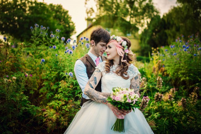 Pretty in Pink Tattooed Wedding - Photography by Vicki (68)