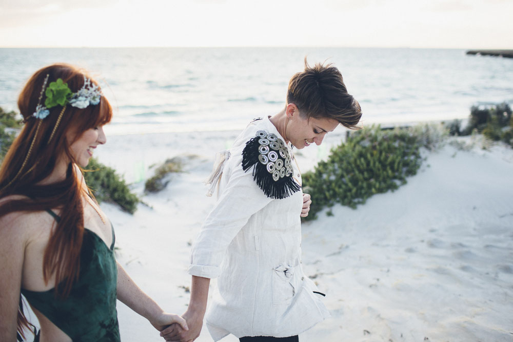 lesbian little mermaid wedding shoot (11)