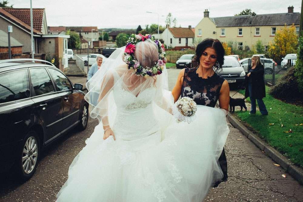 Wedding Dresses Fife 48 Fabulous pink haired bride uk