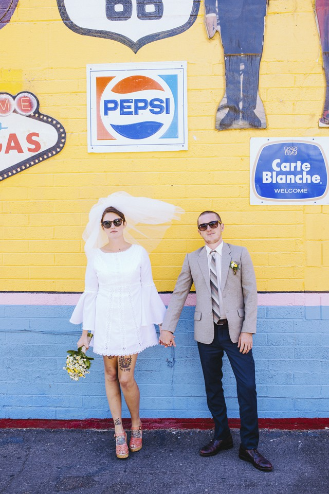 Tattooed, Vintage Vegas Elopement (18)