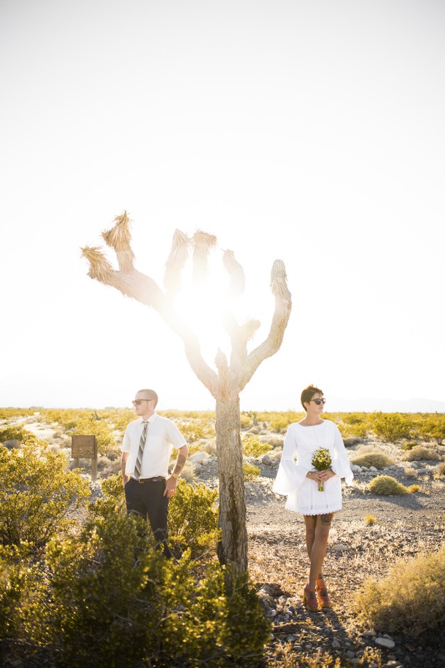Tattooed, Vintage Vegas Elopement (60)