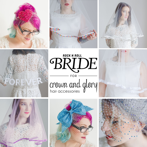win rocknrollbride x crown and glory veil