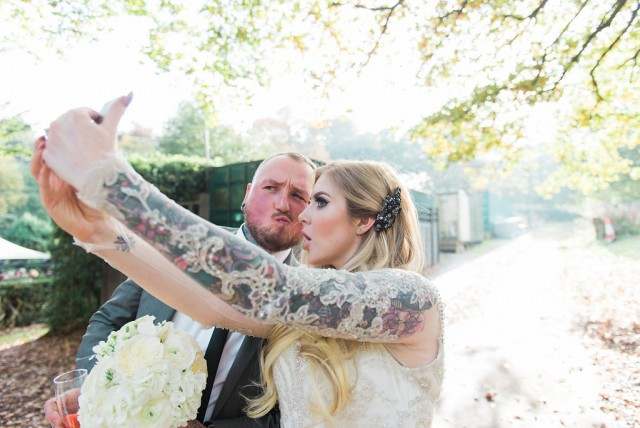 Glamorous Autumn Wedding with a Tattooed Bride and Groom (18)