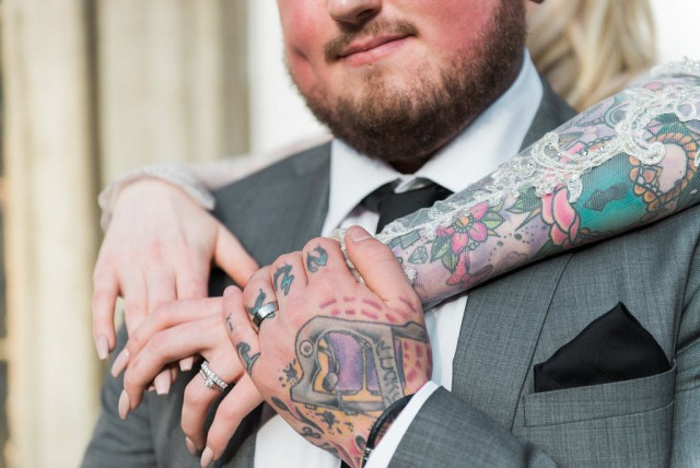 Glamorous Autumn Wedding with a Tattooed Bride and Groom (28)