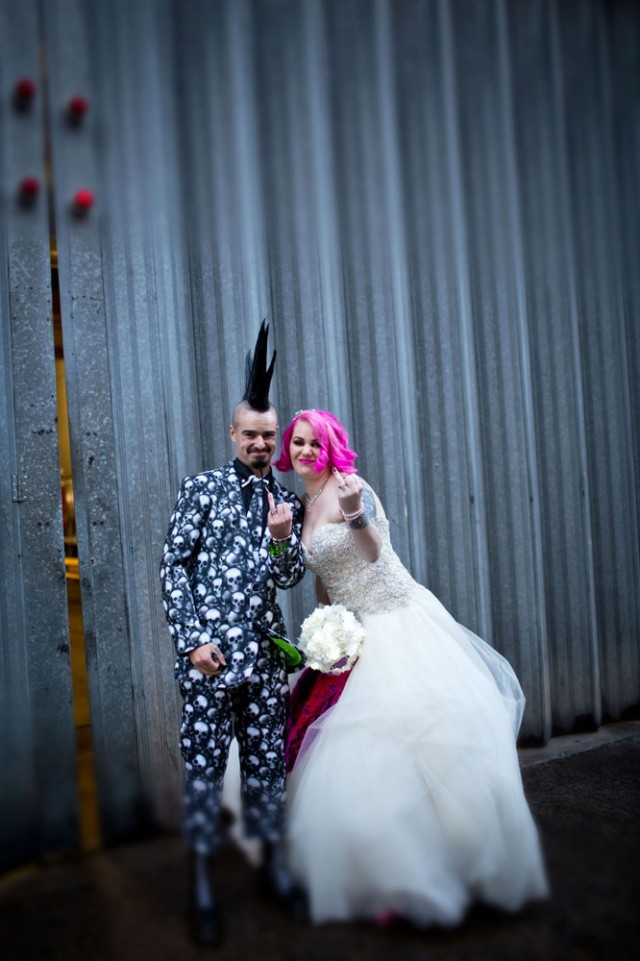 Princess And Pirate Punk Wedding Rock N Roll Bride