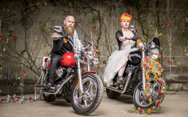 How to Use Flowers to Add Personality to Your Wedding biker shoot (25)