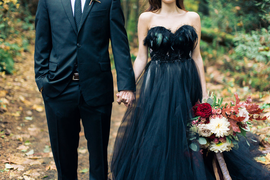 Black And Blue Wedding Dress 3 Nice Woodland Nymph in a