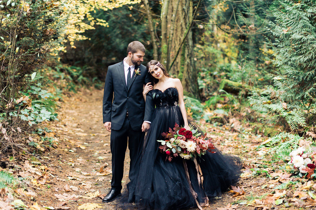 Black Dress Wedding 29 Luxury Woodland Nymph in a