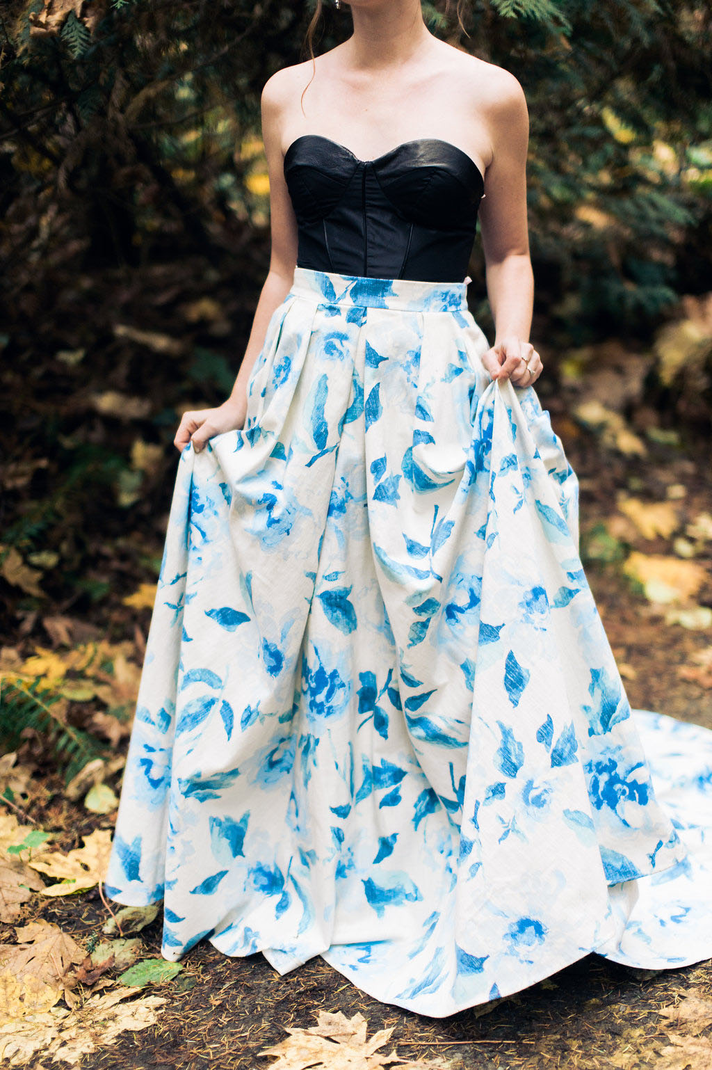Cobalt Blue Wedding Dress