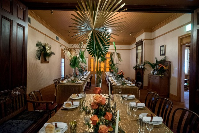brass, pineapple, tropical deer hunter wedding (15)