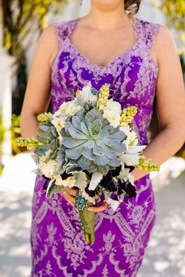 Magical Woodsy Fairytale Wedding & A Bride in a Purple Dress (10)
