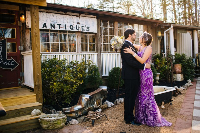 Magical Woodsy Fairytale Wedding & A Bride in a Purple Dress (42)