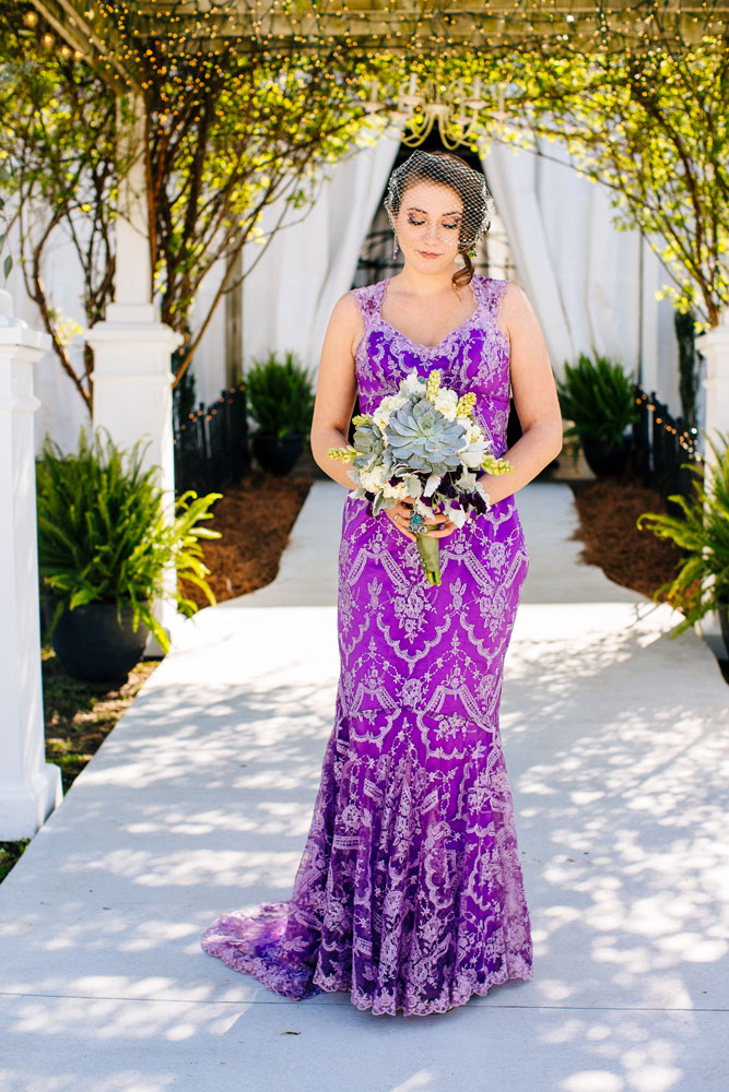 Magical Woodsy Fairytale Wedding & A Bride in a Purple Dress · Rock ...