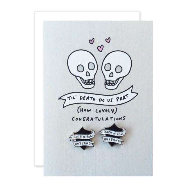 rocknrollbride x veronica dearly wedding cards with pins (1)