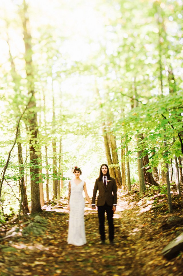 Intimate and Organic Catskill Forest Wedding (9)