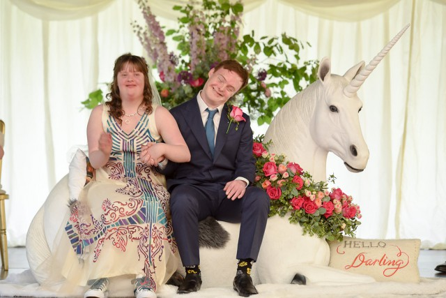 Unicorn Downs Syndrome Wedding via rocknrollbride (42)