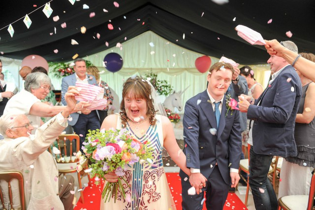 Unicorn Downs Syndrome Wedding via rocknrollbride (52)