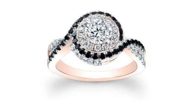 Gothic Style Wedding Rings 13 Unique Alternative Engagement Ring Rose