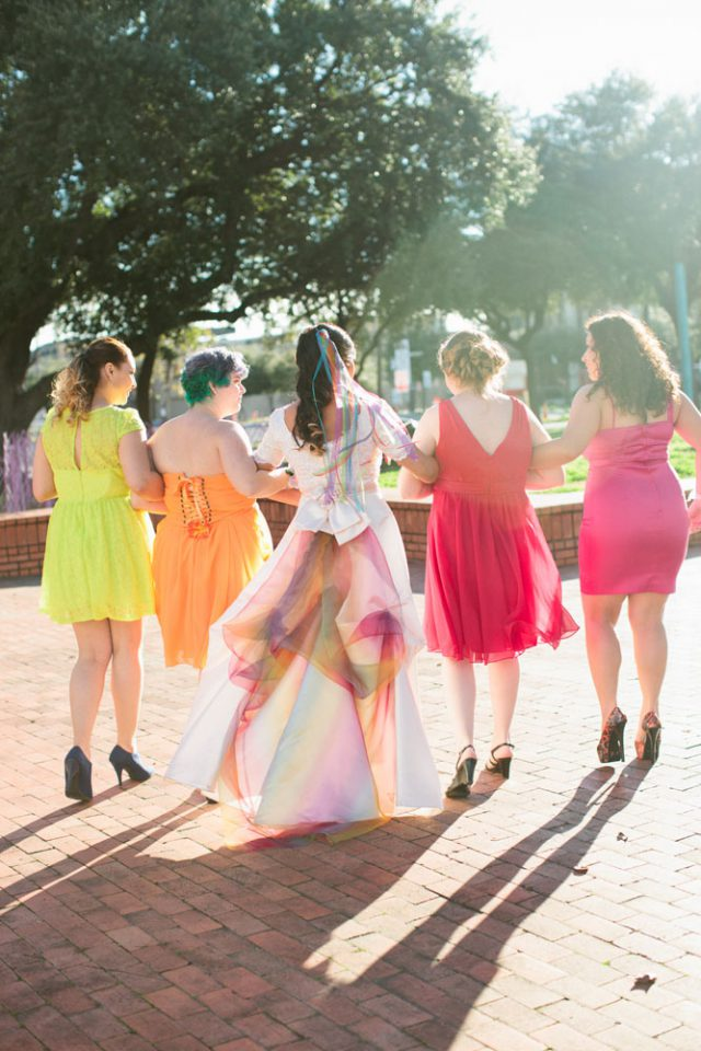 Lively rainbow wedding rock n roll bride lively rainbow wedding in texas 18 junglespirit