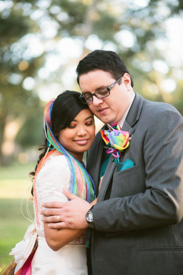 Lively rainbow wedding in Texas (24)