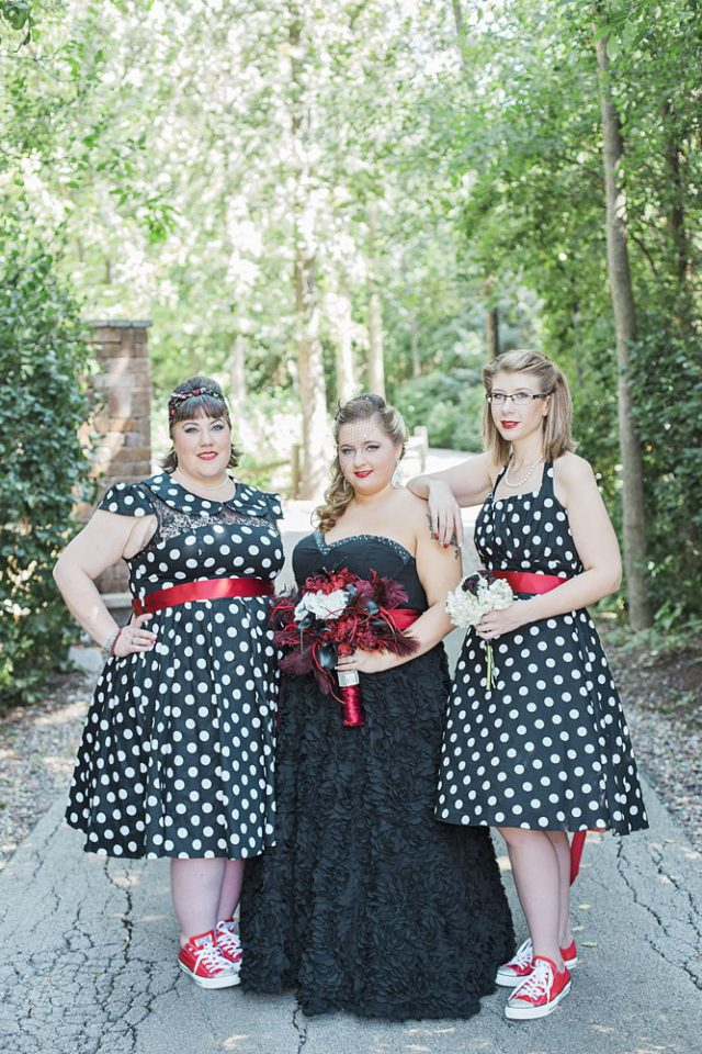 Red & Black Rockabilly Wedding (11)